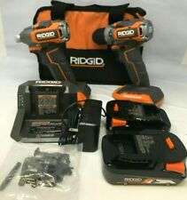 RIDGID R9780 18V SubCompact Drill Driver & Impact Driver Combo Kit, N