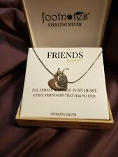 Footnotes Sterling Silver 925 Friends Forver Necklace. EUC.