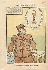 Caricature anti-Nazis Berlin Taxe Denier du Culte  Religion Catholique 1936