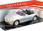 9 in BMW Z4 de collection argent moulé sous pression environ 22.86 cm échelle 1:18 par Motormax jouets