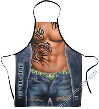 Tattoo Man Flirty Sexy Funny Novelty Kitchen big Muscles Apron For Men FreeShipp