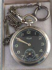 """Reloj de Bolsillo movimiento mecánico alemán Vintage para hombres """"Kenzle"""" en orden de trabajo"""