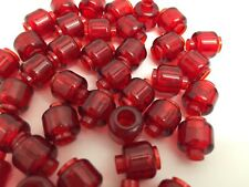 LEGO - NEW Red Translucent Mini Figure Heads / 4 Per Order