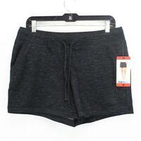 32 Degrees Cool Women's Size Medium Fleece Shorts Black Space Dye NWT New