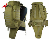 Tactical Molle Extended Gear Rifle Gun Case Backpack Bag Military Hunting Tan