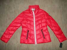 GUESS Los Angeles womens DOWN Insulated Quilted Red JACKET Size MEDIUM $220 NEW
