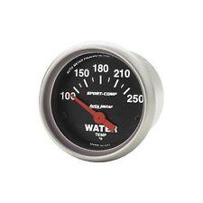 "Auto Meter Sport-Comp Electric Water Temp Gauge 100-250F 2-5/8"" Short Sweep"