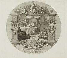 PROBST(*1721), Emblem, Reichtum als Richterstuhl, König Midas, um 1750, KSt