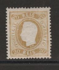 [Portugal 1867/1870 – King Luiz Curved Label] 20 Reis value in 12 1/2 perf.