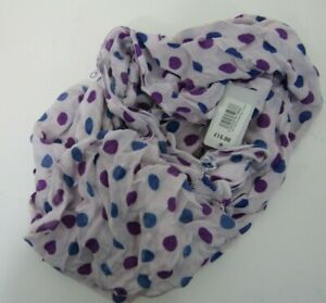 Milans Purple Dotty Tassel Scarf - Brand New RRP £15 - Tags Attached.