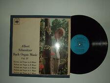 Albert Schweitzer / Bach Organ Music -Disco Vinile 33 Giri LP MONO ITALIA 1967