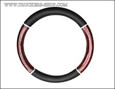 44-46 SIZE STEERING WHEEL COVER TRUCK BLACK/WOODEN [TRUCK PARTS & ACCESSORIES]