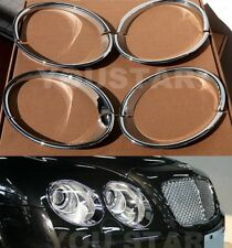 FAST EMS Set CHROME Headlight Bezels for Bentley Continental Flying Spur Sedan