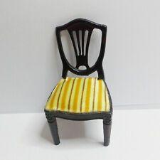 LUNDBY DOLLS HOUSE DARK ROYAL DINING CHAIR PLASTIC VINTAGE 1970's