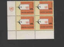 UNITED NATIONS #C12  1964  JET,PLANE & ENVELOPE     MINT VF NH  O.G I/B 4