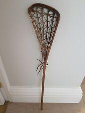 Wooden Vintage Lacrosse Stick Hattersleys Viktoria Sport School Games Prop Retro