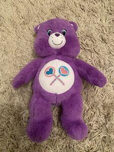 Build A Bear Care Bear Share Bear Plush Soft Toy Purple Retried Rare Collect