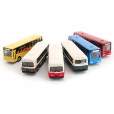 6pcs N Scale Diecast Bus Train Model Streetscape Layout Railway Scenery