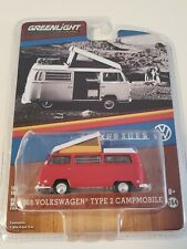 Greenlight Collectable Exclusive 1968 VOLKSWAGEN Type 2 Campmobile 1:64 New