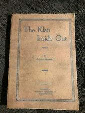 The Klan Inside Out First Edition 1924 Marion Monteval