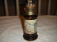 Vintage Hong Kong Oil Lamp With World Map-Small Size