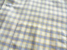 Vtg Maywood Summer Yellow PLAID 2 Pocket Woven Lounge SHIRT sz M 15-15.5 XLNT!
