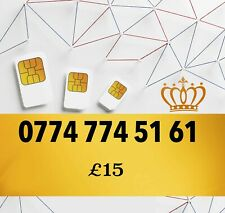 New Pay As You Go Platinum VIP Gold Easy UK Mobile Number 0774 774 51 61
