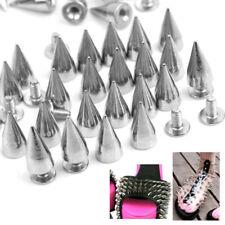 Silver Metal Bullet Stud Rivet Spikes Belt Leather craft 100pcs Accessories 14mm