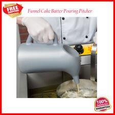 Gray Round Plastic Funnel Cake Batter Pouring Dispenser Pitcher 64 oz.