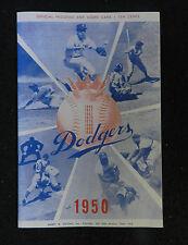 1950 BROOKLYN DODGERS vs ST LOUIS CARDINALS  BASEBALL PROGRAM SCORE CARD