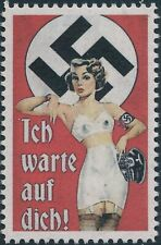 Stamp Replica Label Germany 0279 WWII German Sexy Lady MNH
