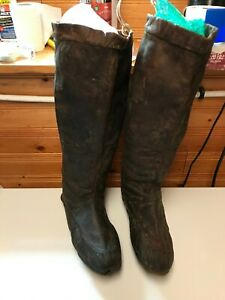 antique seal skin boots--native ---newfoundland ---innu ---inuit
