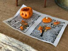 Dollhouse Miniature Artisan Halloween Pumpkin Carving in the Making!!