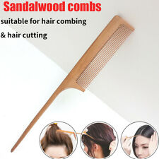 Hair Comb Natural Sandalwood Handle Detangling Styling Hairdressing Comb.