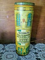 VINTAGE DIFIORI''S SPAGHETTI HOUSE TALL PASTA TIN CANISTER