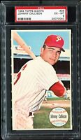 1964 Topps Giants #36 JOHNNY CALLISON Philadelphia Phillies PSA 6 EX-MT
