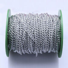 10 Meters/lot Wholesale 5mm Aluminum Chain Curb Chains for DIY Jewellery Making
