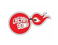 Cherry Bomb Racing Sticker Vinyl Decal 4-18