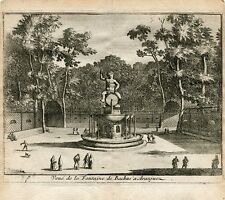 Vue de la fontaine de Bachus á Aranjuez gravure par Pieter Van der Aa