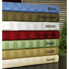STRIPED BED SHEET SET 4 PC ALL COLOR AND SIZE 1000 THREAD COUNT EGYPTIAN COTTON