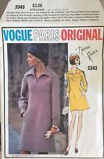 Vogue Nina Ricci Paris Original Uncut 1960's Pattern w/Cloth Label #2343 Dress