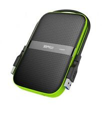 2TB Silicon Power Armor A60 Shockproof Portable Hard Drive - USB3.0 Black/Green