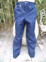 MARINE NATIONALE 2è GM PANTALON A PONT EN JEAN / BLEU DENIM WORKING CLOTHES 40th