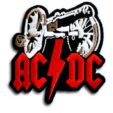 ACDC Patch Iron on AC DC Heavy Metal Hard Rock Music Band Badge Sew Woven Biker