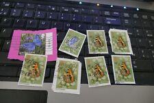 7 butterflies commemorative UK British postage stamps philately philatelic