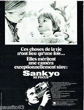 PUBLICITE ADVERTISING 016  1971  SANKYO  caméra Super 8 hi focus