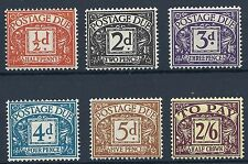 SG D40-D45 1954 Tudor CROWN Set completo di Postage Dues Unmounted MINT / MNH
