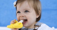 Banana Toothbrush Teether Silicone for Baby Infant Training Pacifier Yellow USA
