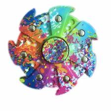 HOT Special Gear Rainbow EDC Fidget Hand Spinner Torqbar ADHD Autism Finger Toy