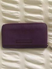 BCBG Max Azria Purple Leather Zip Around Wallet Clutch Purse.Gorgeous